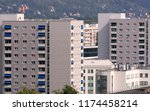 Urban Apartment Blocks In...