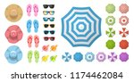 Vector Set. Beach Elements And...