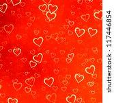 hearts texture background | Shutterstock . vector #117446854