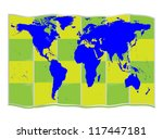 world map | Shutterstock .eps vector #117447181