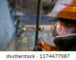 sandblaster inspector... | Shutterstock . vector #1174477087