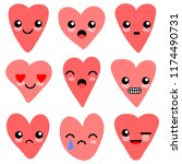 cute hearts characters for your ...   Shutterstock .eps vector #1174490731