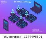 isometric design concept... | Shutterstock .eps vector #1174495501