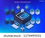 isometric design concept... | Shutterstock .eps vector #1174495531
