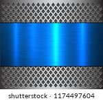 metal background  steel brushed ... | Shutterstock .eps vector #1174497604