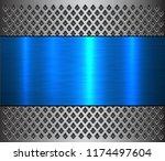 metal background  steel brushed ...   Shutterstock .eps vector #1174497604