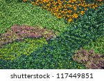 Colorful Flower Wall On White...