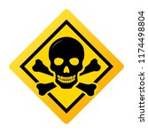 toxic safety hazard danger... | Shutterstock .eps vector #1174498804
