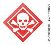toxic safety hazard danger... | Shutterstock .eps vector #1174498807