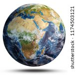 planet earth map. elements of...   Shutterstock . vector #1174503121