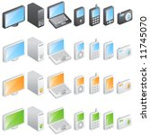 electronic icons vector | Shutterstock .eps vector #11745070