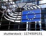 exterior view of european... | Shutterstock . vector #1174509151
