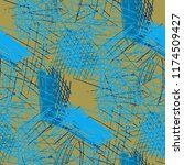 various hatches. seamless... | Shutterstock .eps vector #1174509427