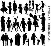 children and family vector | Shutterstock .eps vector #11745115