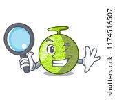 detective fresh organic melon... | Shutterstock .eps vector #1174516507