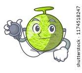 doctor fresh melon isolated on... | Shutterstock .eps vector #1174518247