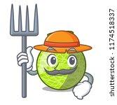 farmer fresh melon isolated on... | Shutterstock .eps vector #1174518337