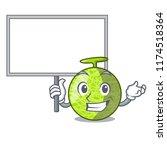 bring board fresh melon... | Shutterstock .eps vector #1174518364