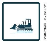 icon of construction bulldozer. ... | Shutterstock .eps vector #1174518724