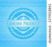 genuine product light blue... | Shutterstock .eps vector #1174518841