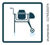 icon of concrete mixer. shadow... | Shutterstock .eps vector #1174520374