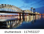 finland railway bridge at night ... | Shutterstock . vector #117452227