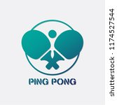 ping pong rackets and ball... | Shutterstock .eps vector #1174527544