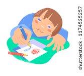 drawing boy. concept  children...   Shutterstock .eps vector #1174535257
