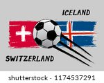 flags of switzerland and... | Shutterstock .eps vector #1174537291