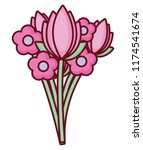 flowers bouquet icon | Shutterstock .eps vector #1174541674
