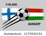 flags of finland and hungary    ... | Shutterstock .eps vector #1174542151