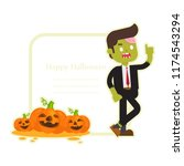 zombie office  businessman... | Shutterstock .eps vector #1174543294