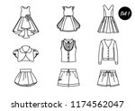 a set of icons. clothes for... | Shutterstock .eps vector #1174562047