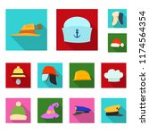 vector illustration of headwear ... | Shutterstock .eps vector #1174564354