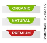 natural label and organic label ... | Shutterstock .eps vector #1174564477