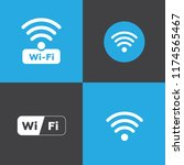 set of different wireless and... | Shutterstock . vector #1174565467