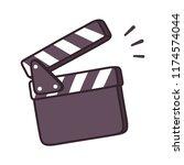 blank movie clapper board... | Shutterstock . vector #1174574044
