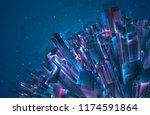 vector abstract 3d crystal. a... | Shutterstock .eps vector #1174591864