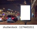 mock up of blank white vertical ... | Shutterstock . vector #1174601011