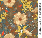 seamless pattern with... | Shutterstock . vector #1174607314