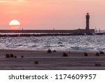 feu de saint pol lighthouse in... | Shutterstock . vector #1174609957