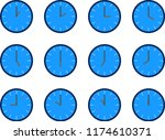 summary of the vector of blue... | Shutterstock .eps vector #1174610371