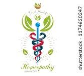pharmacy caduceus icon  vector... | Shutterstock .eps vector #1174620247
