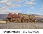remains of  twenty mule team... | Shutterstock . vector #1174624021