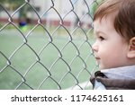 a boy 1 5 years old at the edge ... | Shutterstock . vector #1174625161