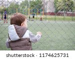 a boy 1 5 years old at the edge ... | Shutterstock . vector #1174625731