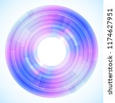 geometric frame from circles ... | Shutterstock .eps vector #1174627951
