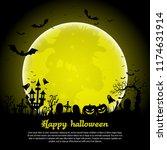 halloween background.... | Shutterstock .eps vector #1174631914