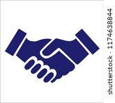 handshake vector icon... | Shutterstock .eps vector #1174638844