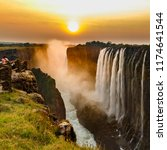 Victoria Falls Sunset With...